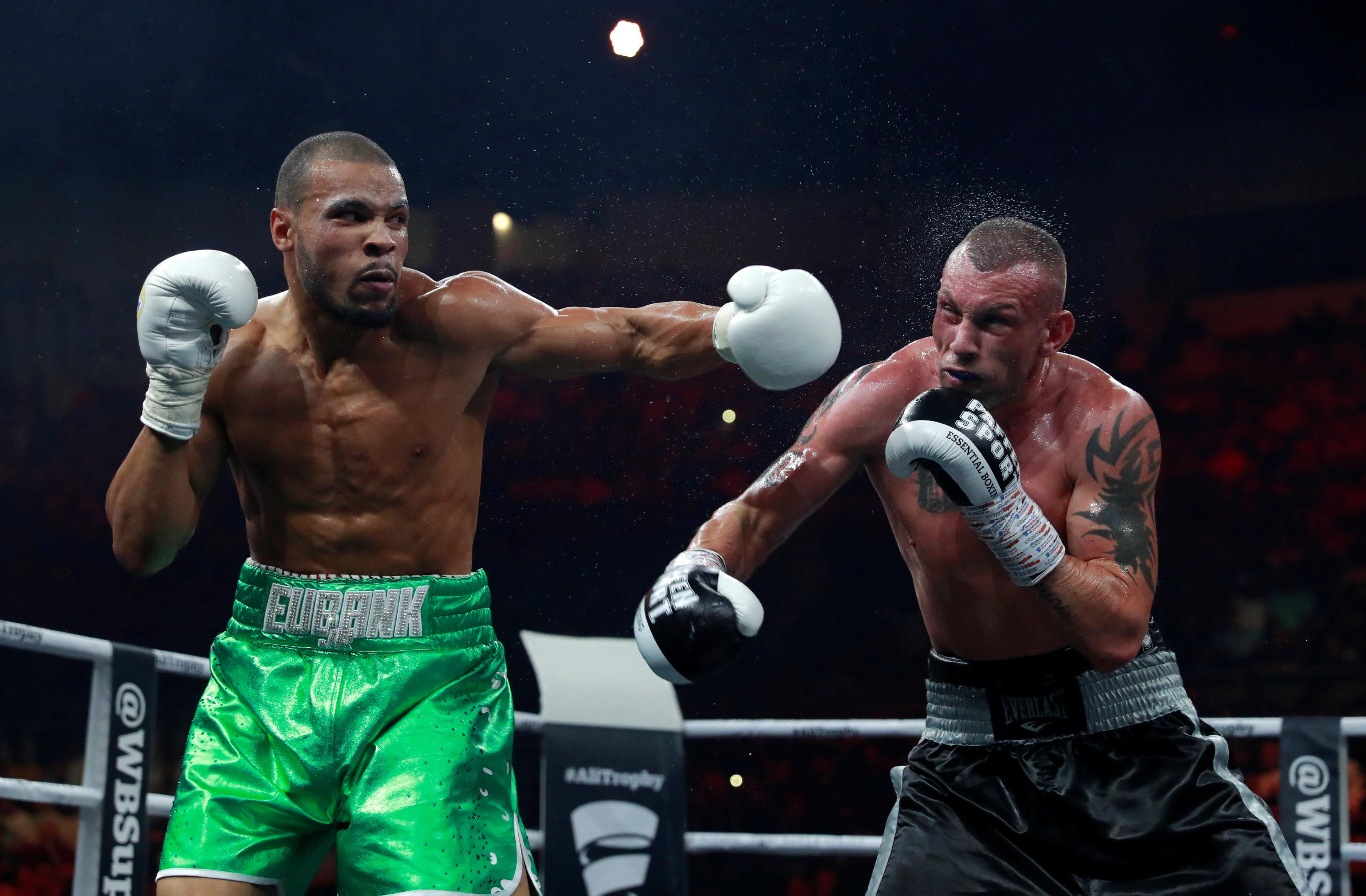 Eubank Jr comfortably beat McDonagh in three rounds having floored him early in the fight with a left-hook