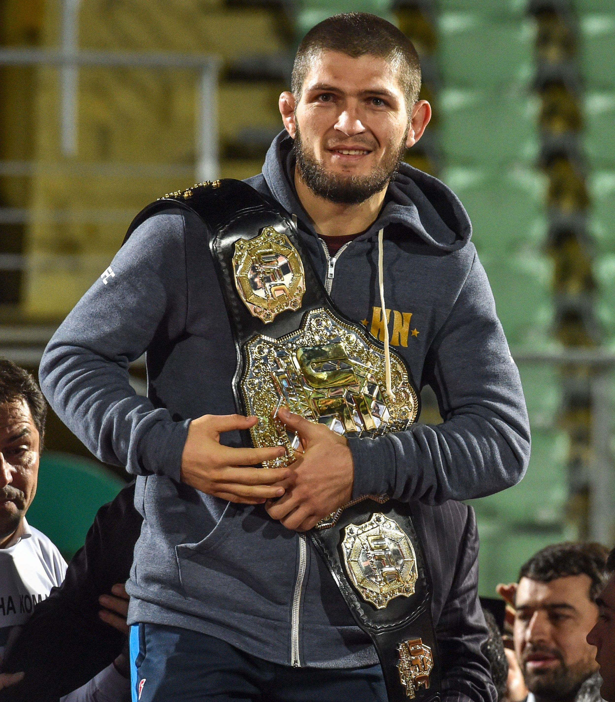 Khabib Nurmagomedov's team claim he would be too big and powerful for Floyd Mayweather, so would KO the boxing legend