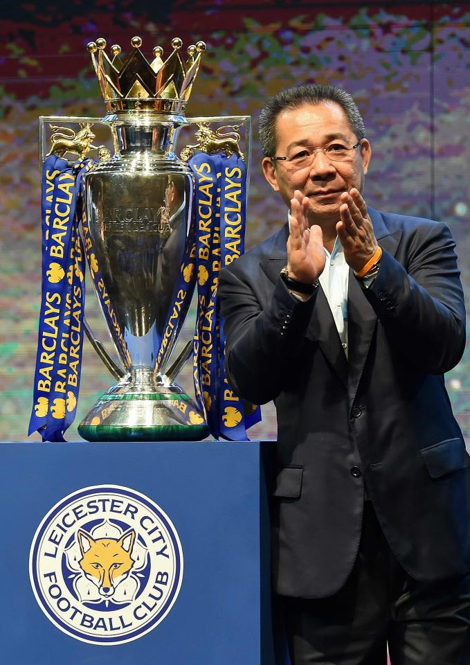Late Vichai was killed in a helicopter crash after leaving the stadium following their game with West Ham