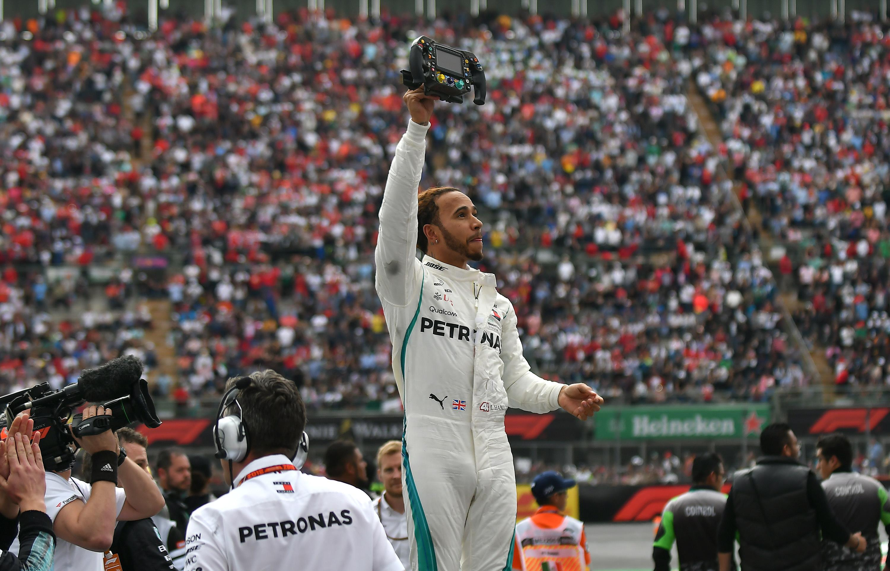 Hamilton secured the F1 drivers' title last out in Mexico City