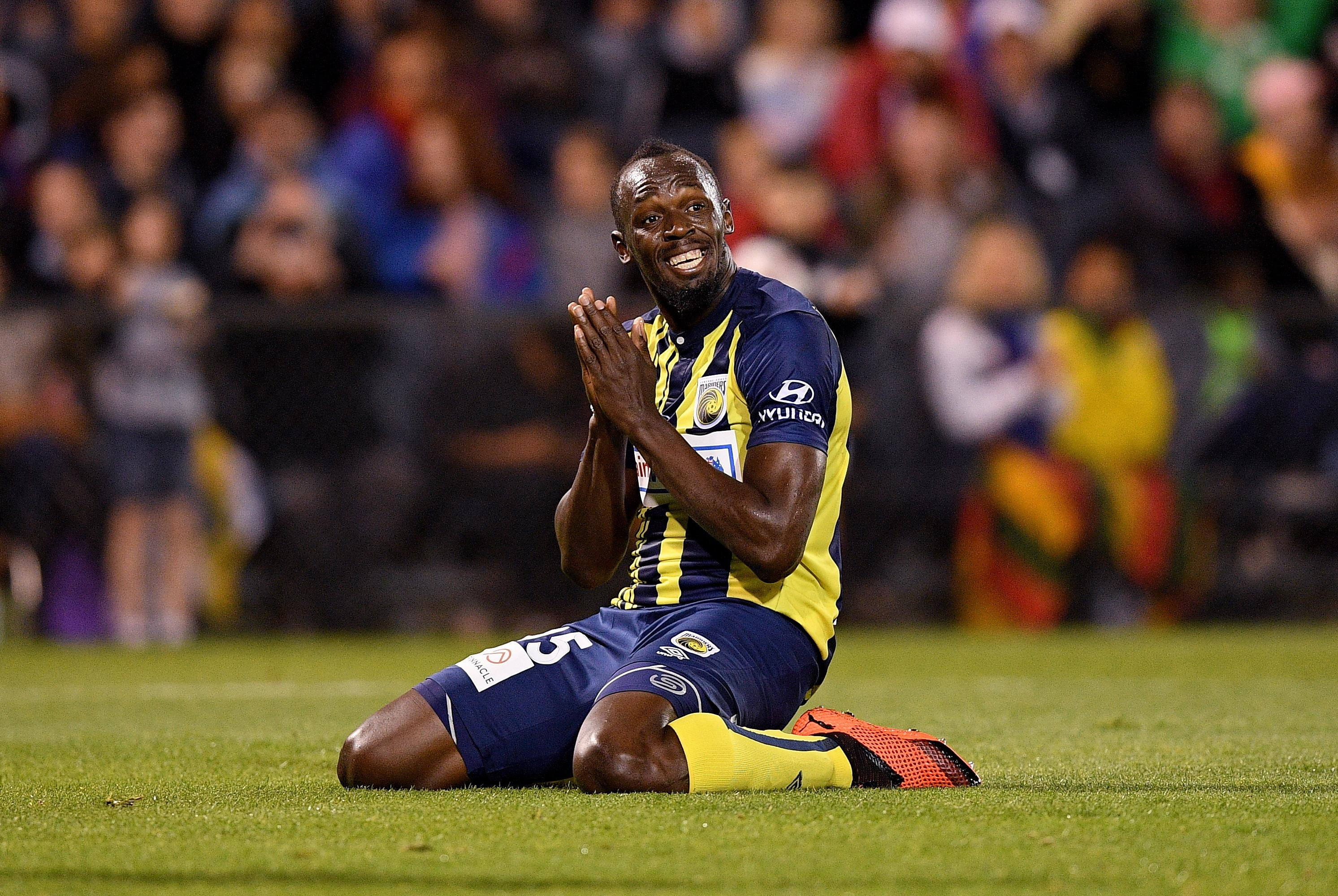 Usain Bolt is trying to become a pro footballer since hanging up his running spikes