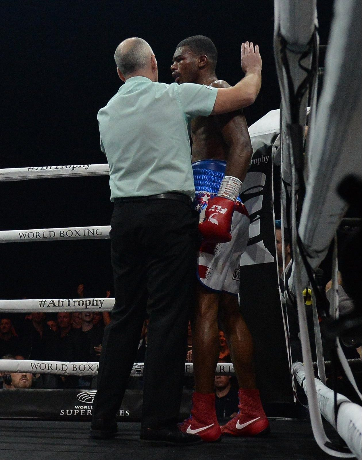 The referee had seen enough and stopped the fight in the seventh round