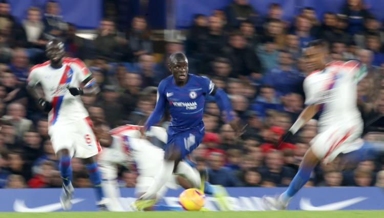 N'Golo Kante was not impressed at being beaten on Fifa