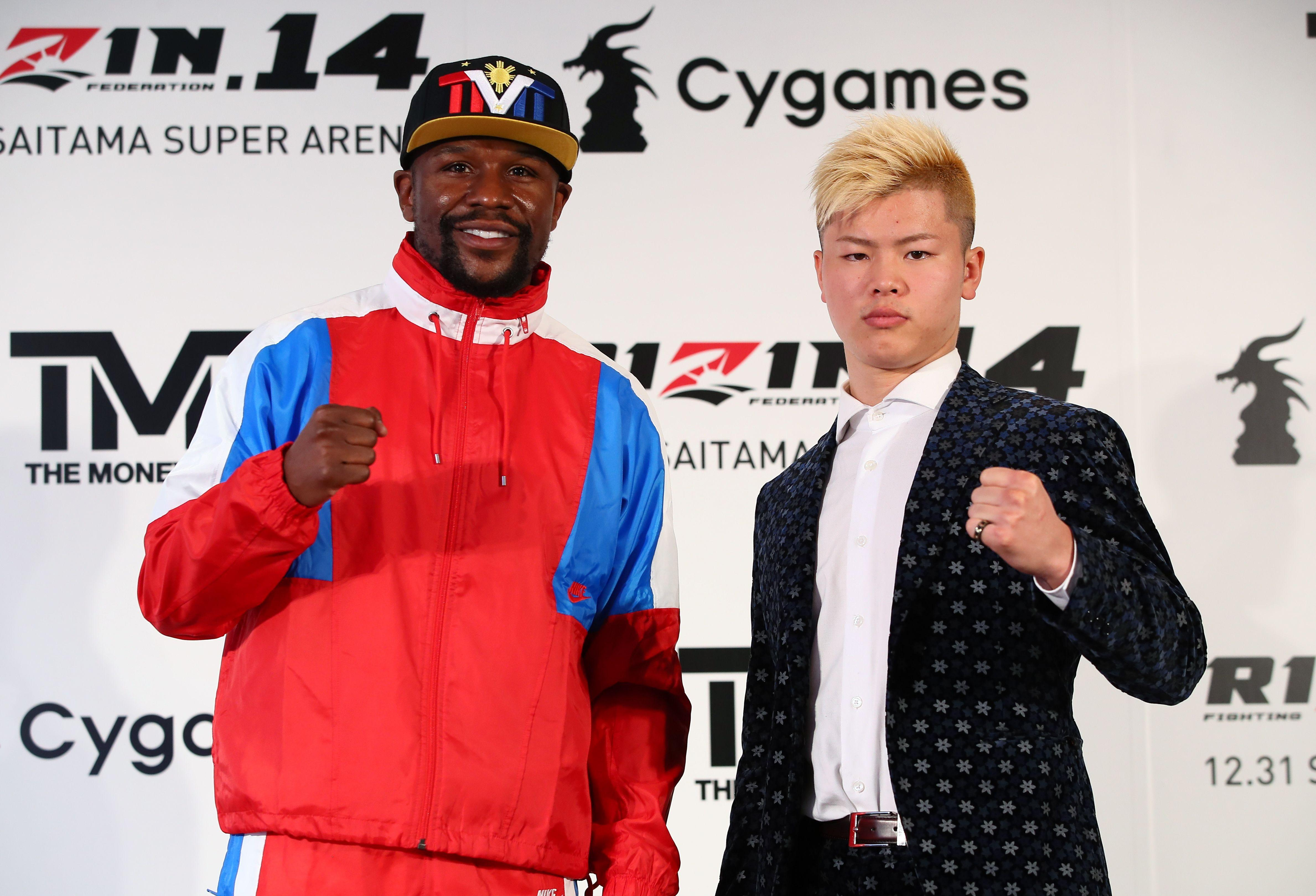 Mayweather and Nasukawa announced the unexpected fight in a press conference yesterday