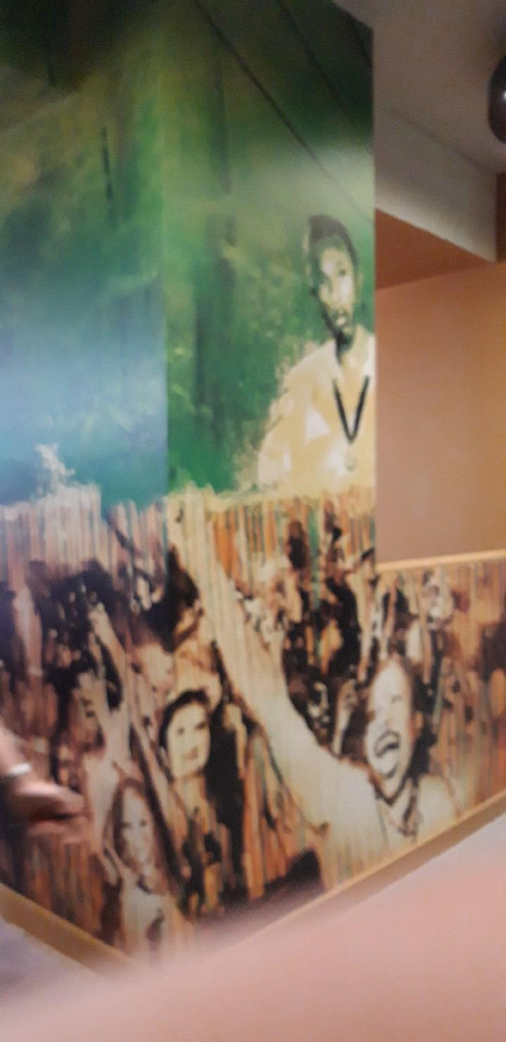 The decor inside pays tribute to the eight-time Olympic gold medallist Bolt