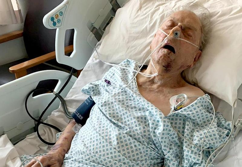 Peter Gouldstone, 98, has been fighting for his life after a brutal attack