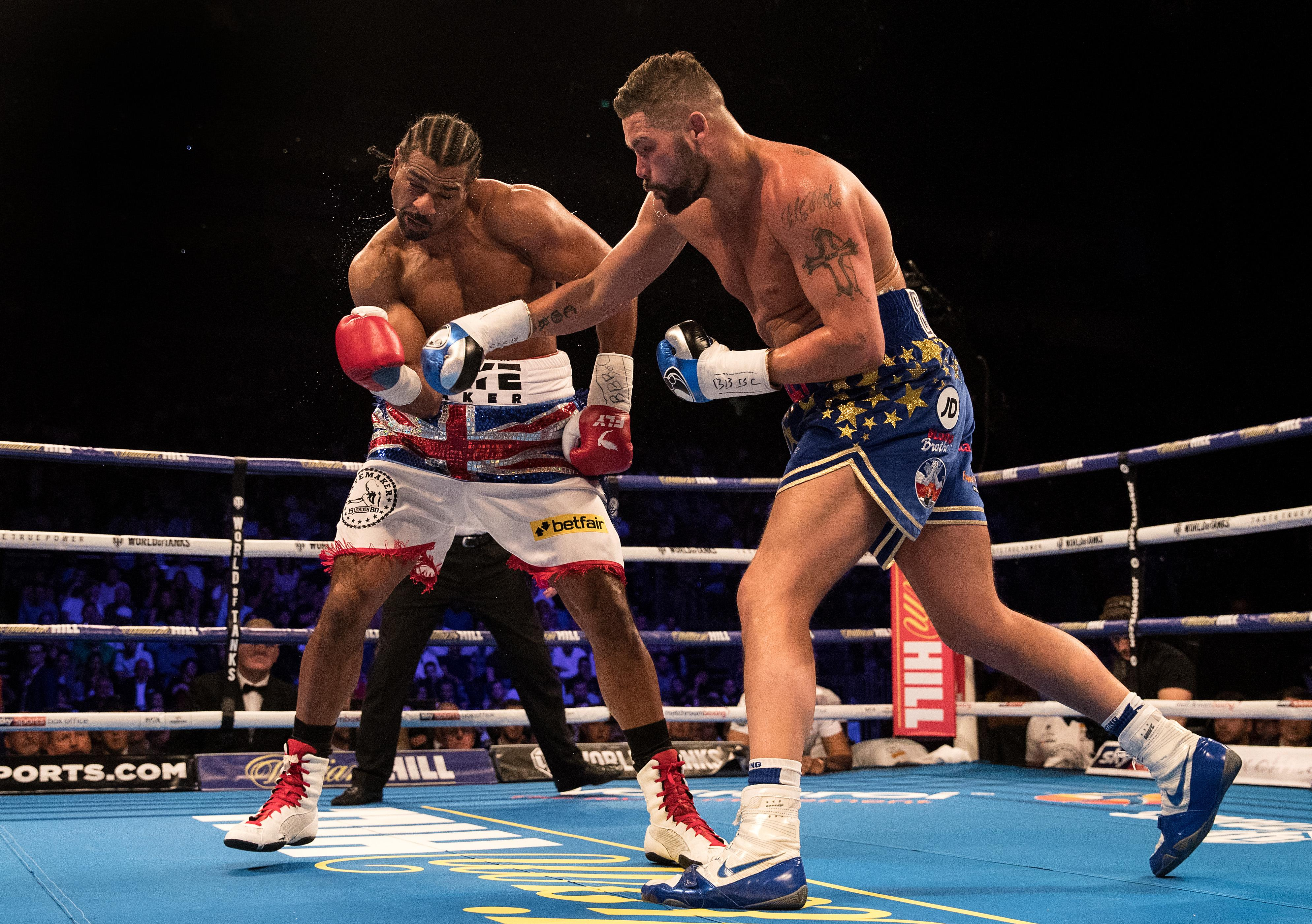 Bellew moved up to heavyweight to fight Haye, beating his rival twice by knockout
