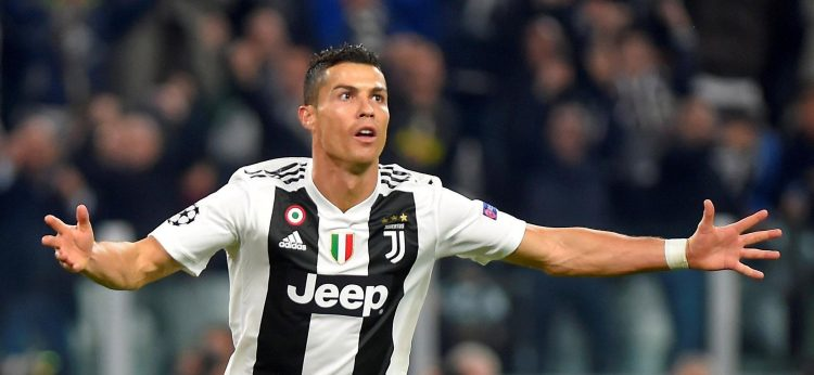 Cristiano Ronaldo celebrates after his super opener for Juventus against old club Man Utd