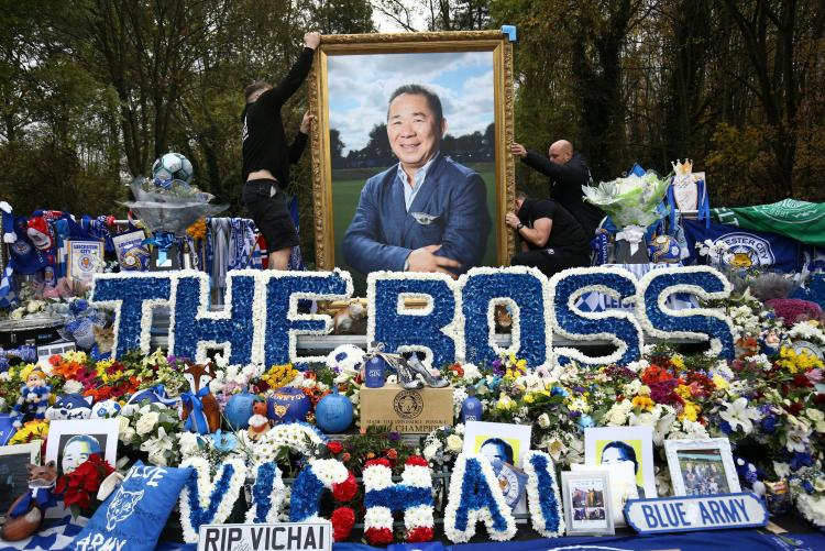 Tributes have flooded in for the former owner of Leicester City after he was killed in a helicopter crash