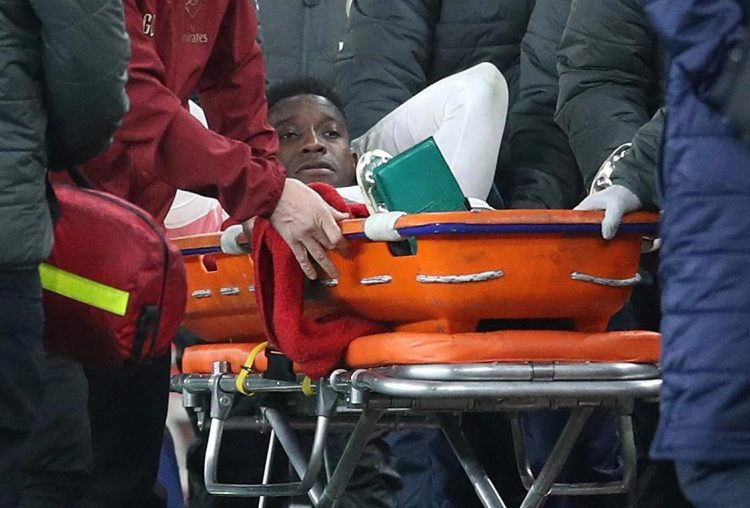 Arsenal frontman Danny Welbeck suffered a devastating ankle injury against Sporting Lisbon