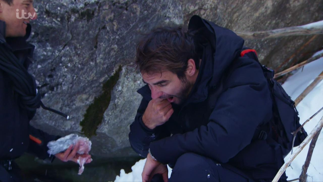 Federer ate fish eyeballs among other challenges on the survival show