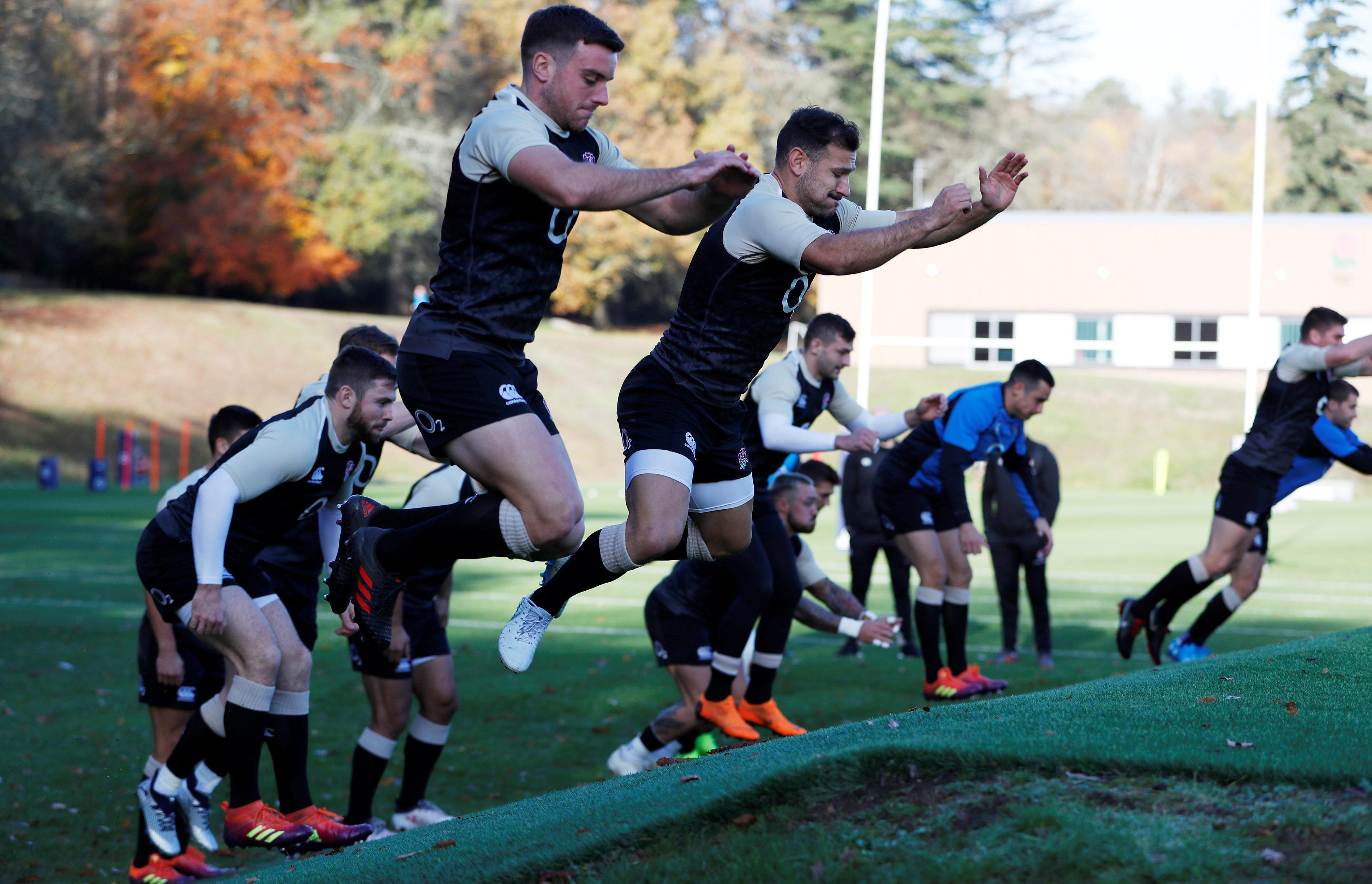 Red Rose train ahead of the Japan clash