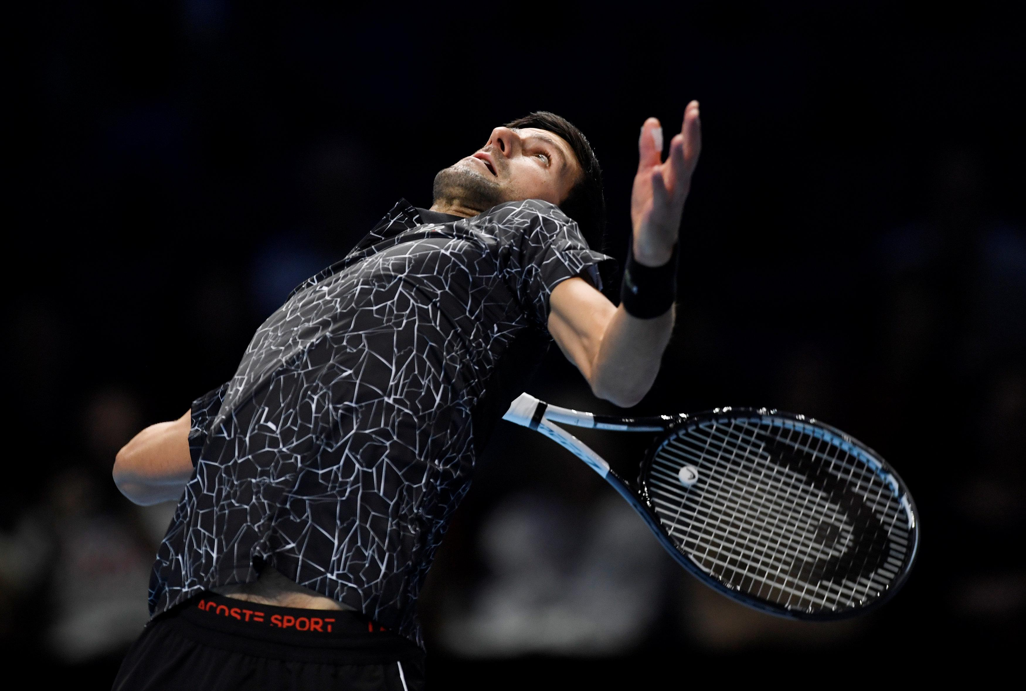 The 31-year-old secured his second win of the Nitto ATP Finals