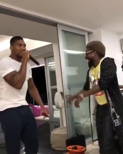 Anthony Joshua rapped alongside reggae star Beenie Man in Jamaica this week