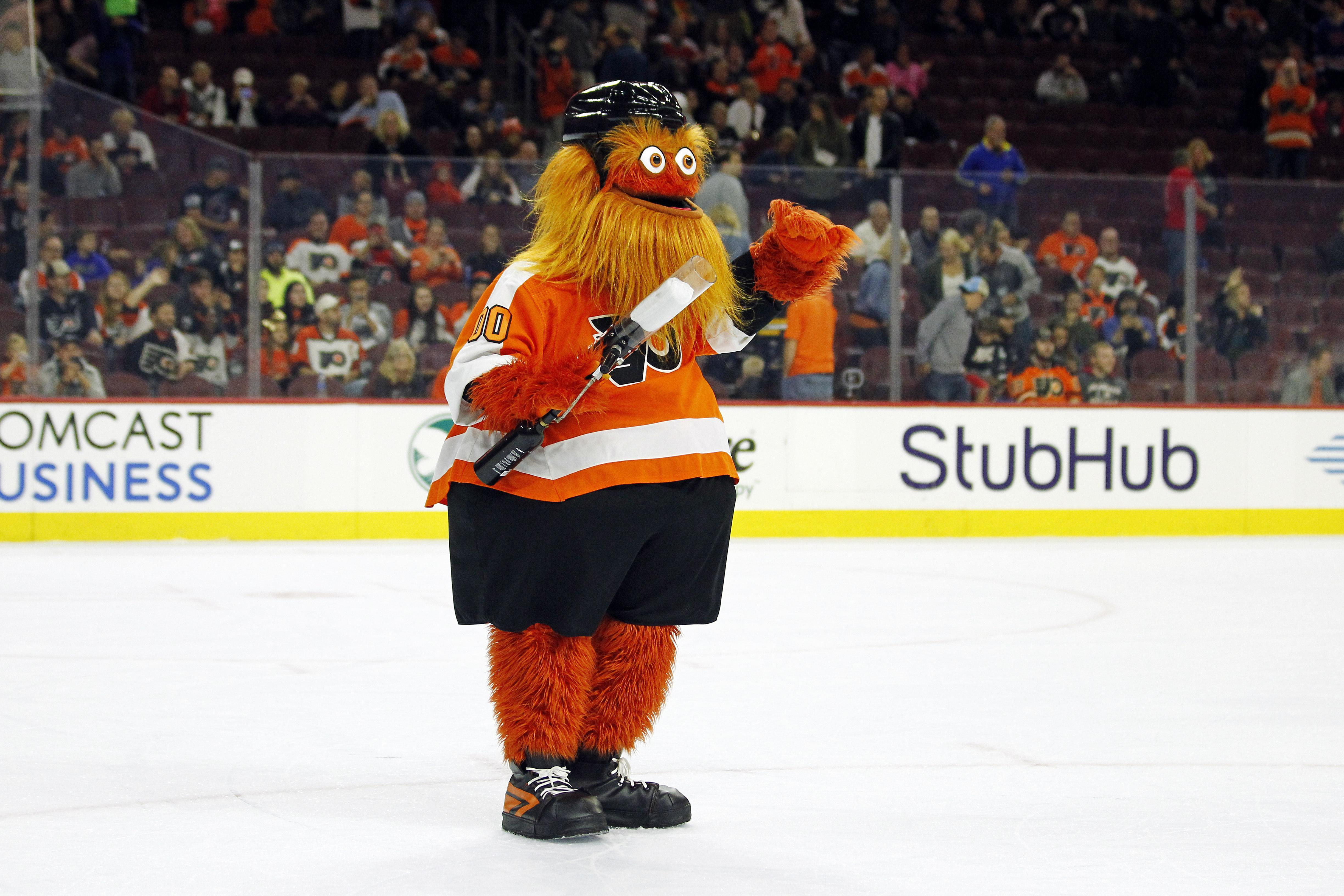 Gritty was only introduced by NHL team the Philadelphia Flyers in September
