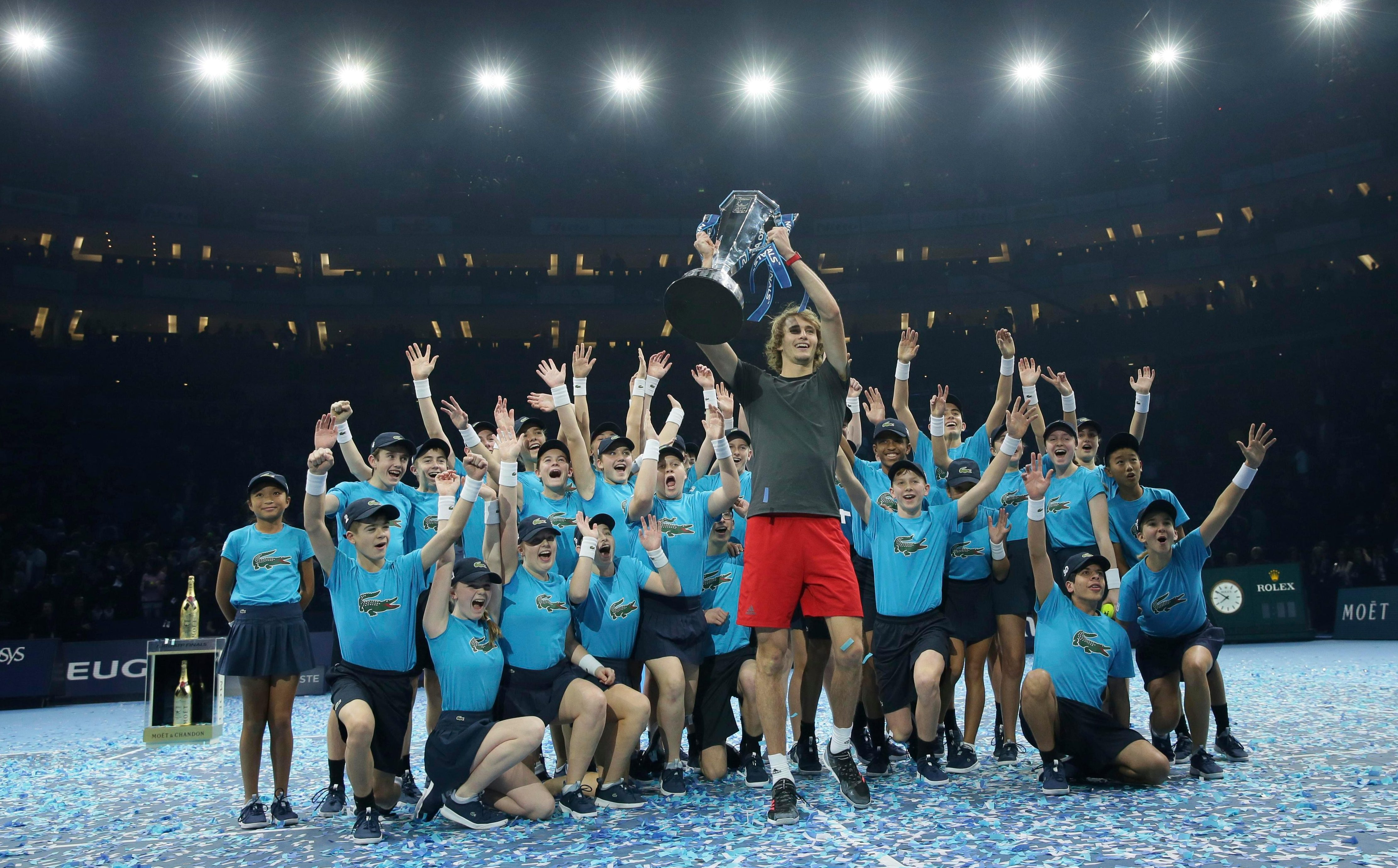 Alex Zverev enjoys being centre stage after truly announcing his arrival at the highest level