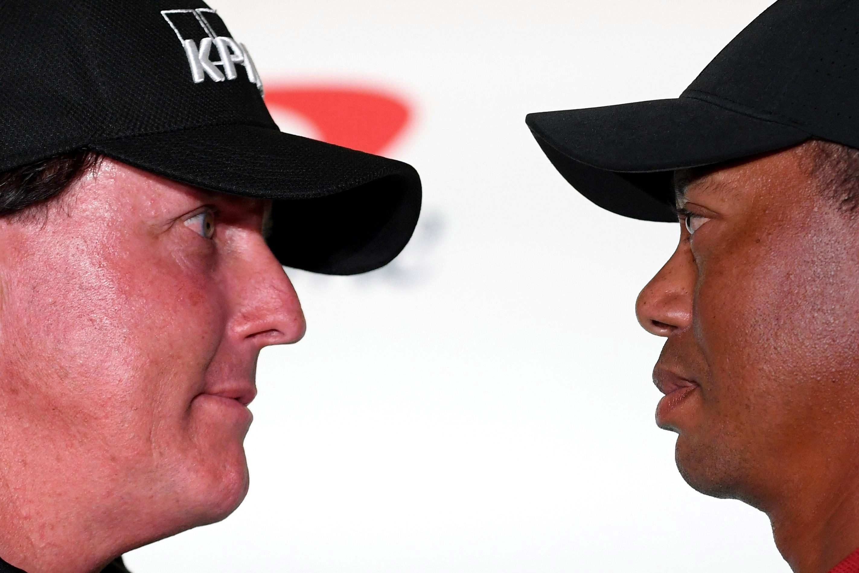 Tiger Woods and Phil Mickelson go head-to-head in a contest that will earn the winner $9m