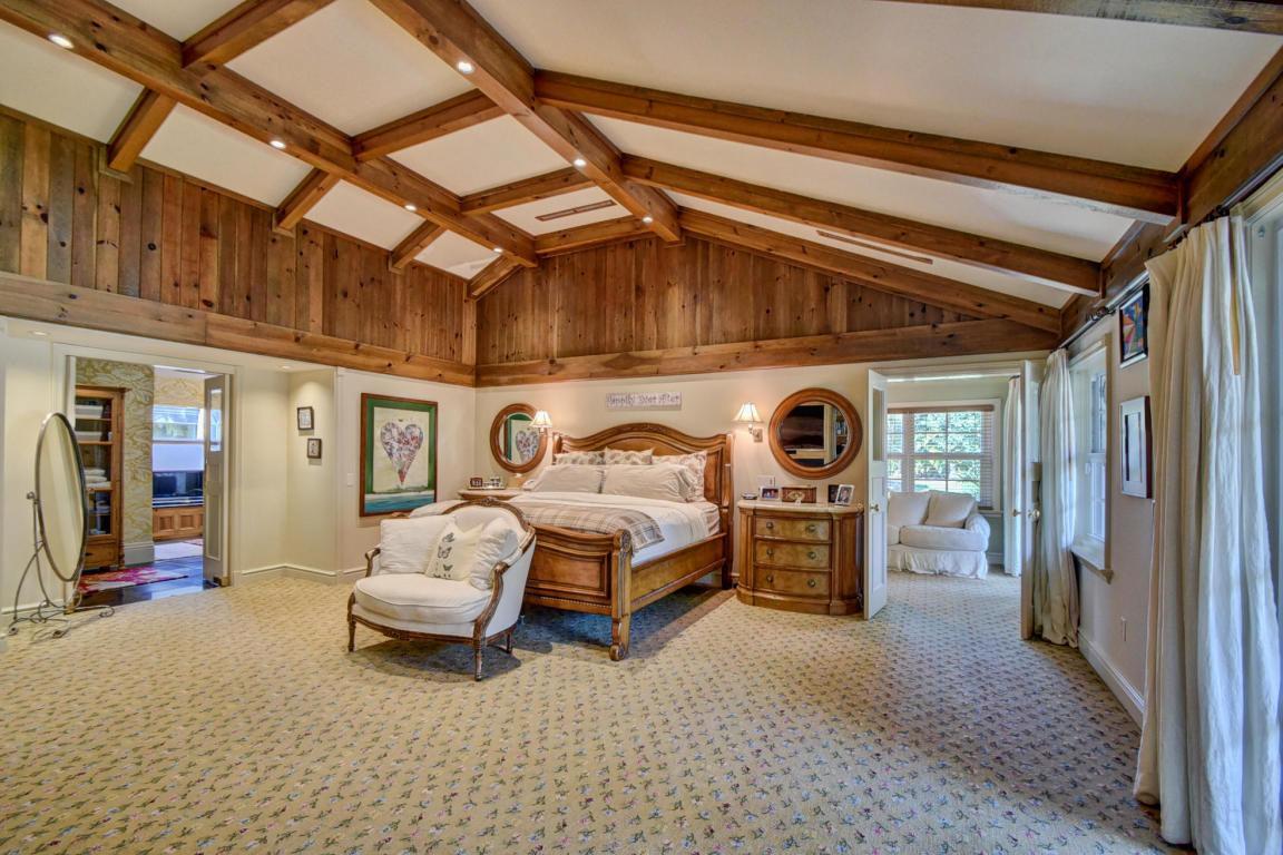 The master bedroom with en suite bathroom