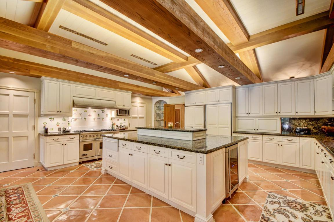 The luxurious kitchen is fit for gourmet cooking