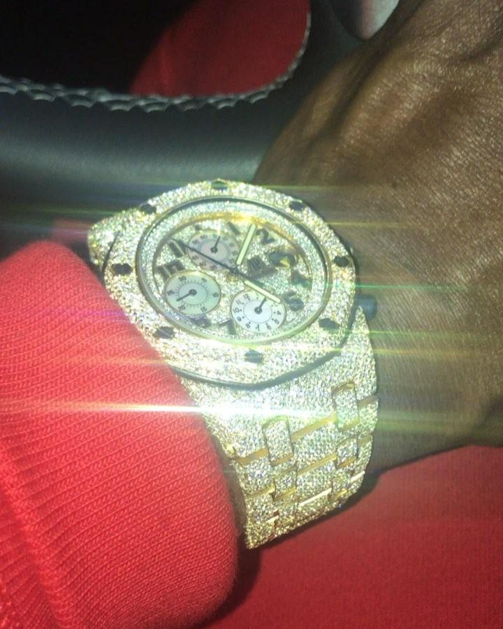 The spree included three watches, a ring, a necklace and a bracelet