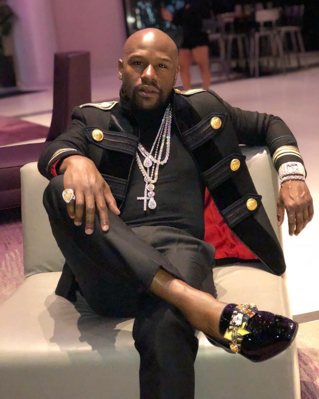 Floyd Mayweather's latest preparations for his New Year's Eve fight included a £4million shopping spree