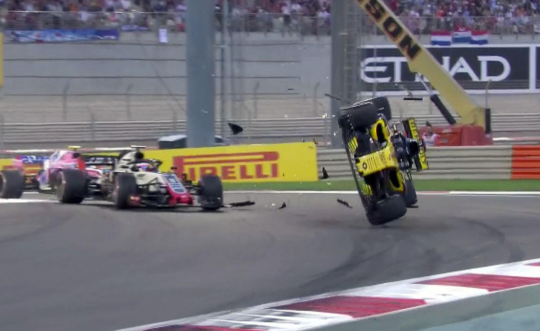 Nico Hulkenburg suffered a horror crash early in the Abu Dhabi Grand Prix
