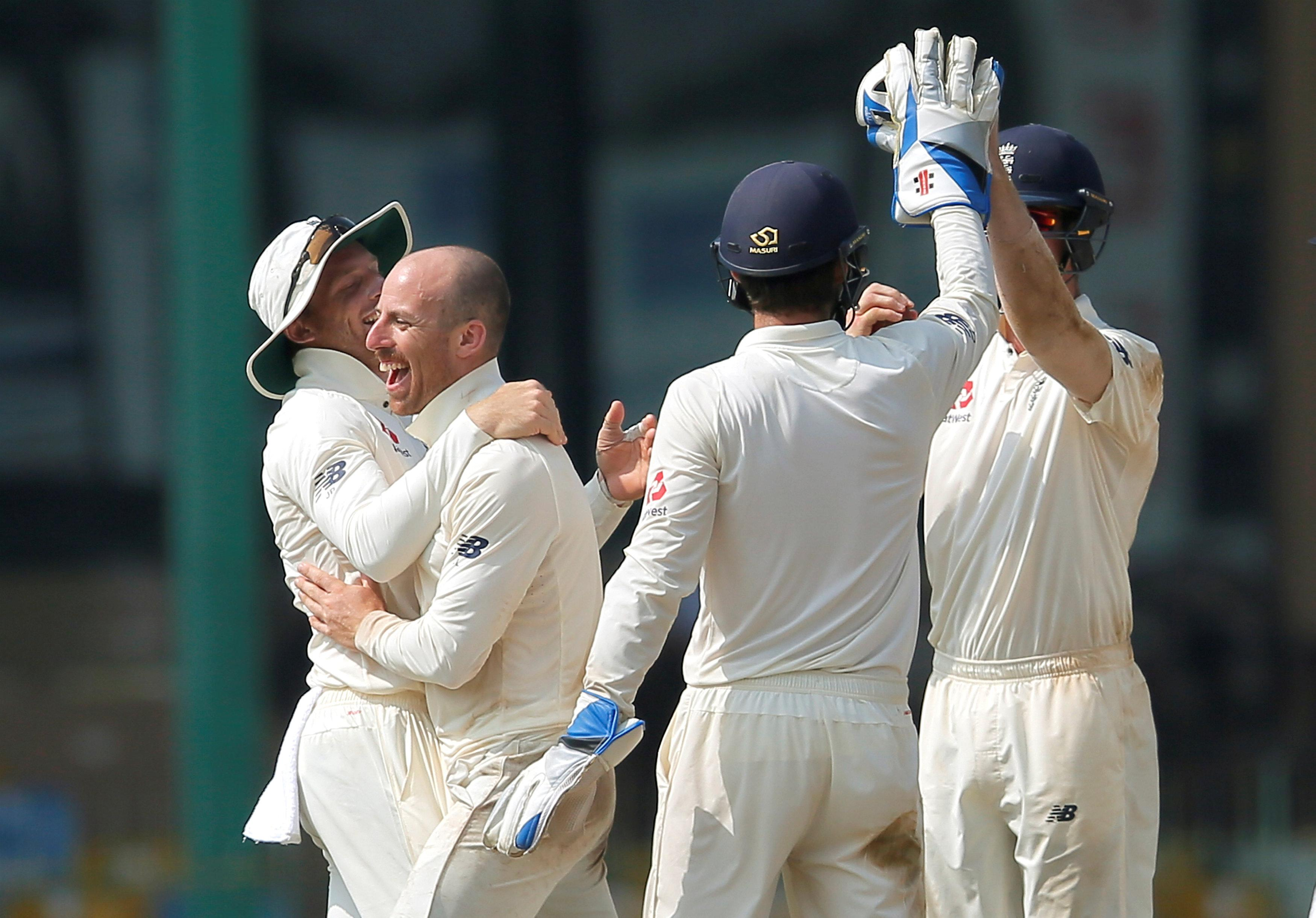Jack Leach took the final wicket as England eventually clinched the win