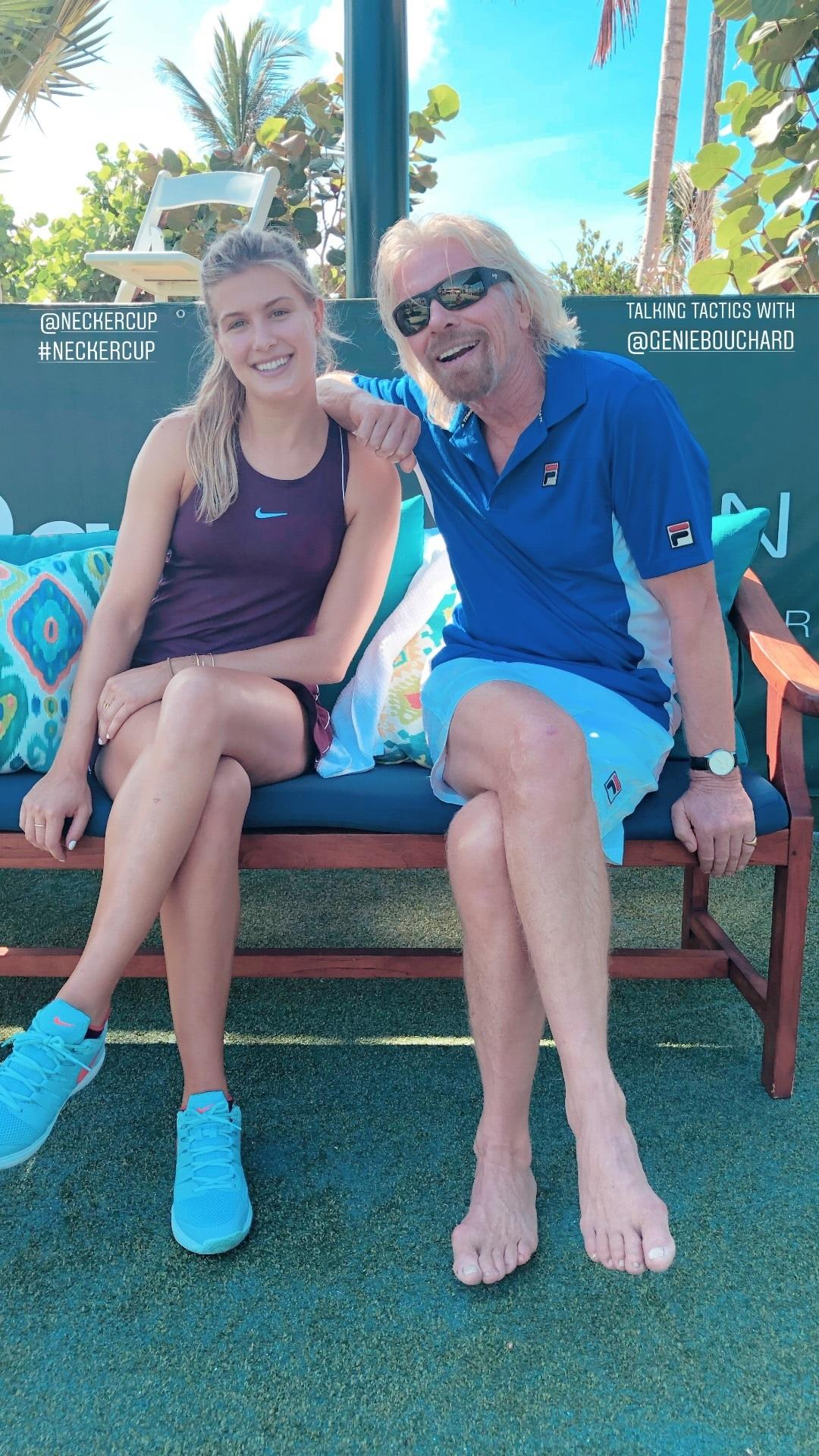 Stunning Tennis ace Bouchard has made the trip to the Carribean for the tournament