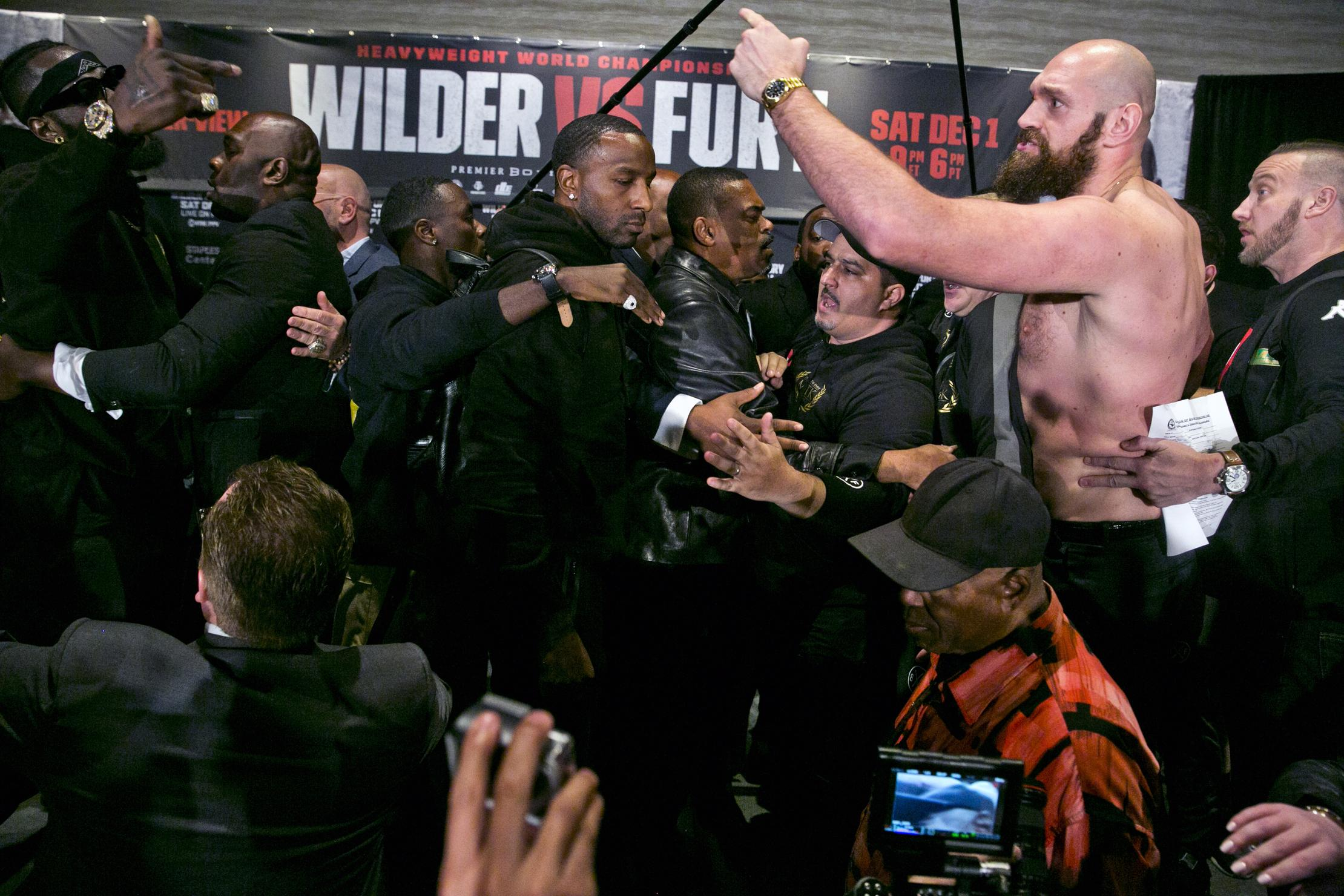 As you might have expected, it all kicked off at the Fury vs Wilder press conference