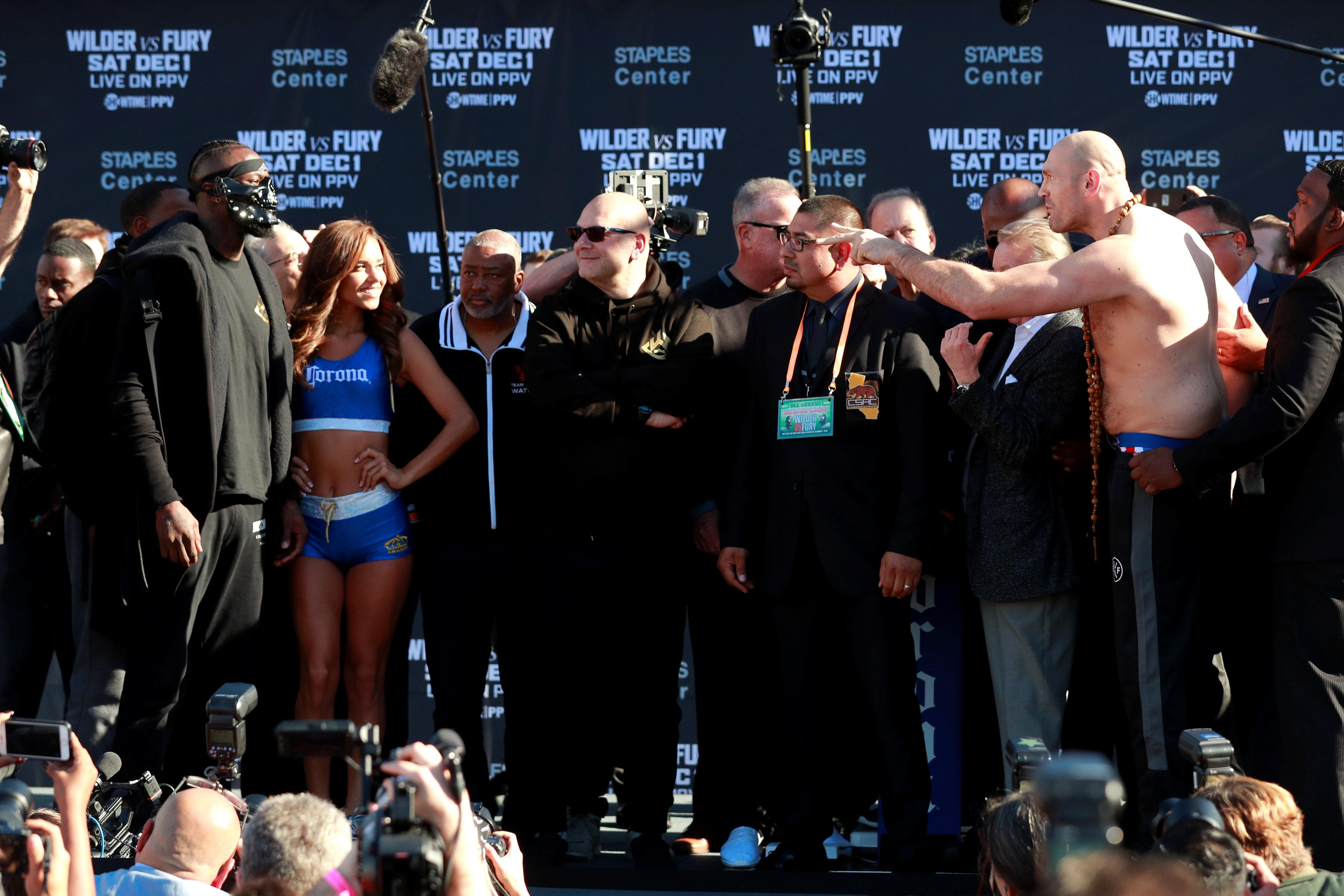 The pair did not go head-to-head during heated weigh-in
