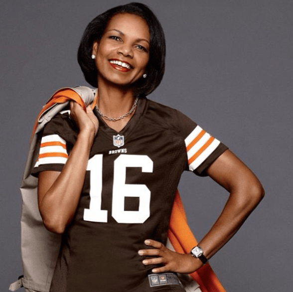 Cleveland Browns have denied talking to Condoleezza Rice