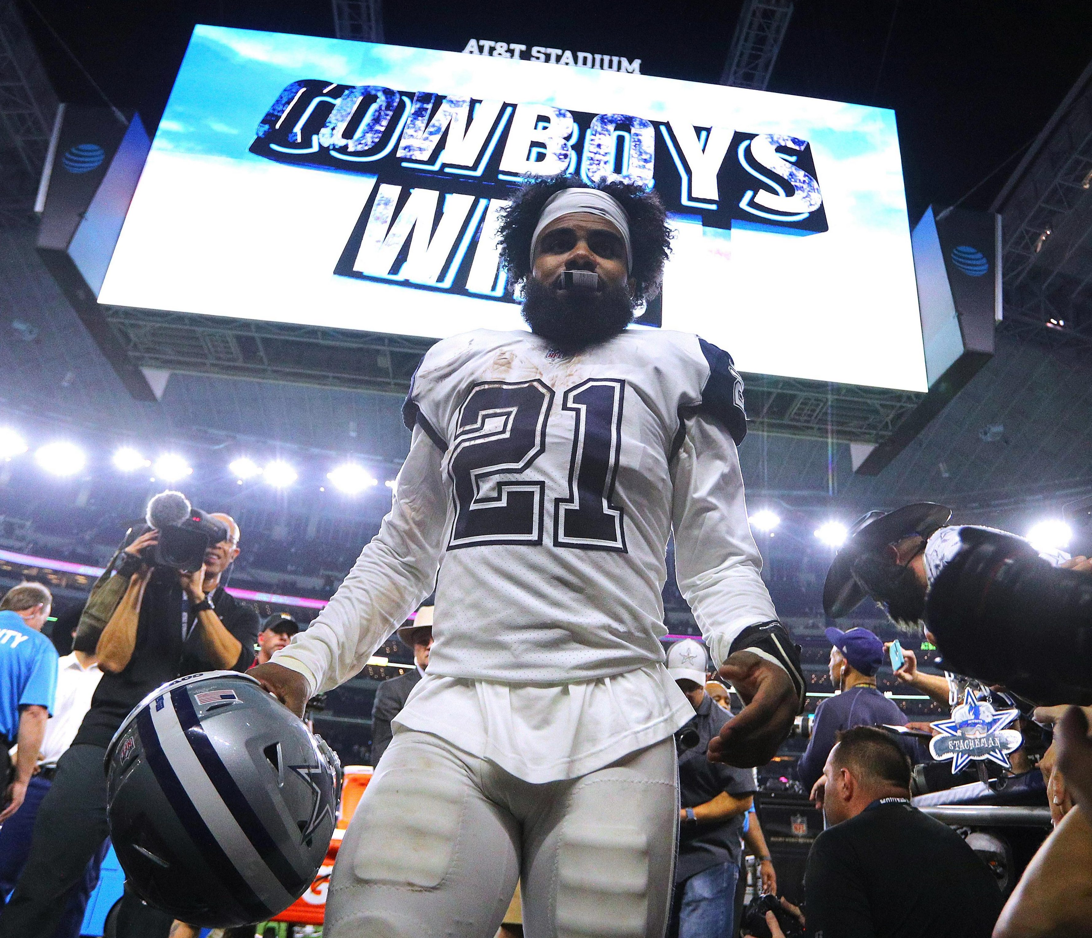 On Sunday night the Eagles face their rivals the Dallas Cowboys - who lead their division