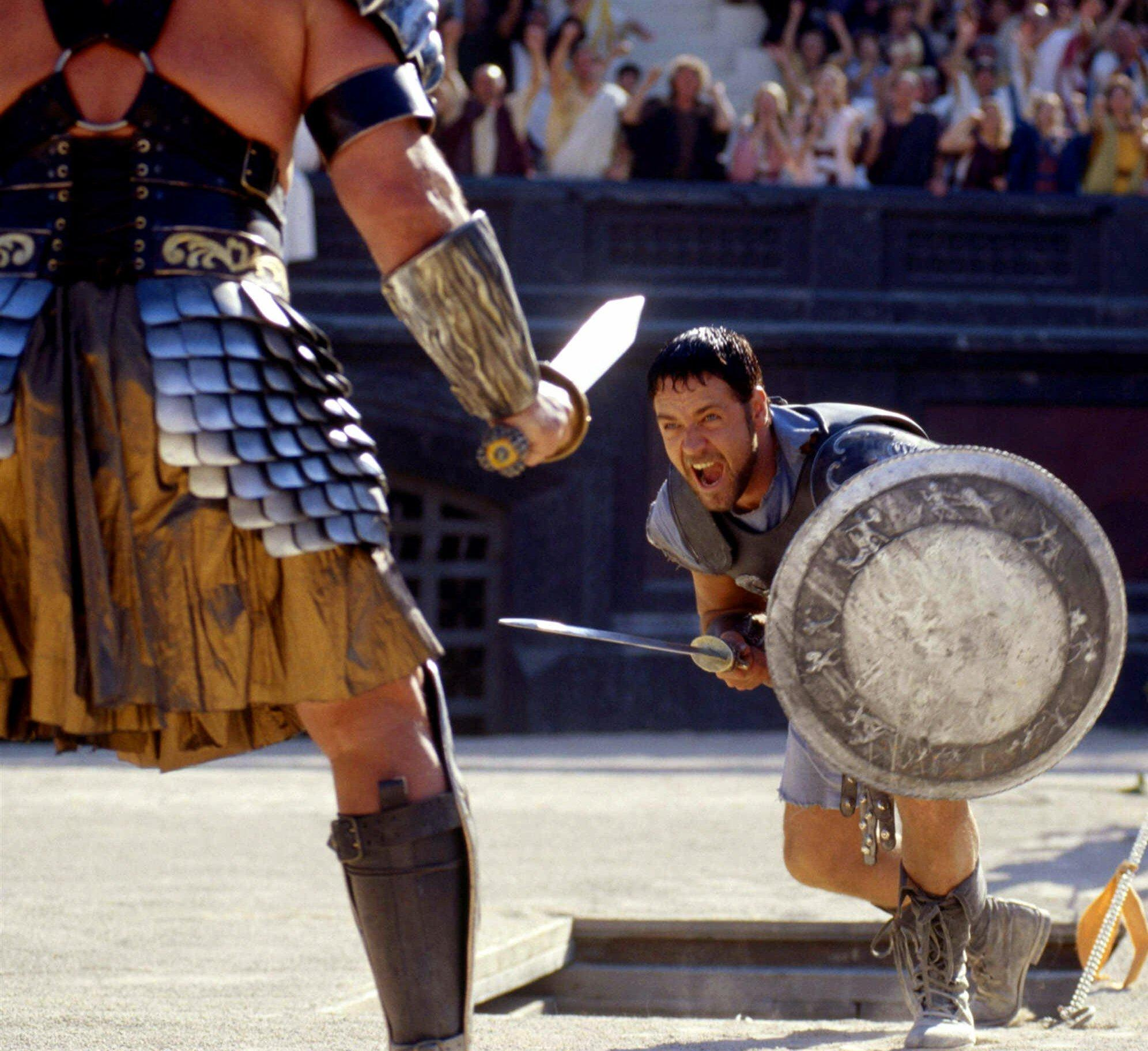 The cyclist reveals he cried while watching 'Gladiator' starring Academy award winner Russell Crowe