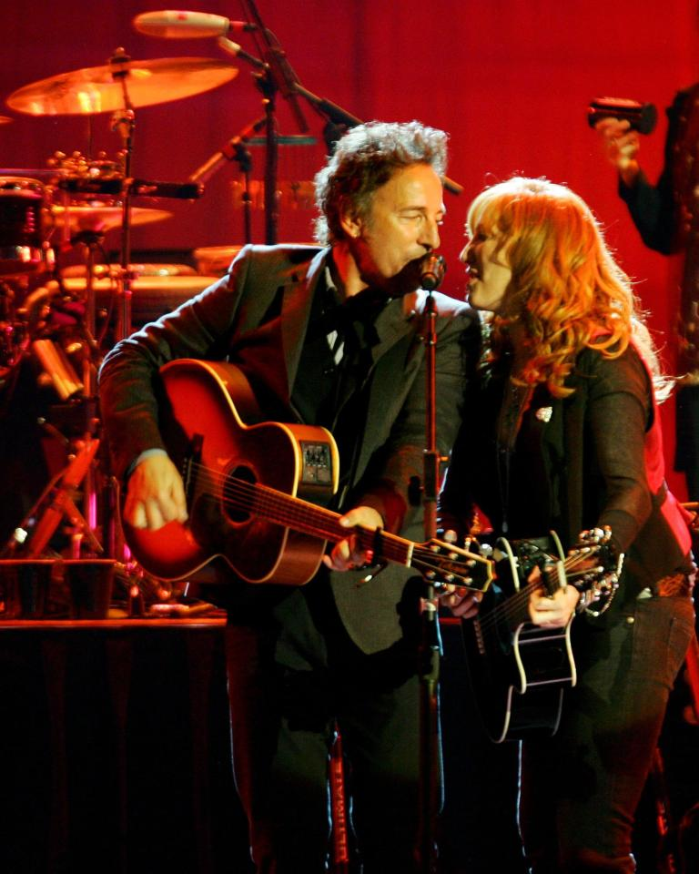 Brice duets with his flame-haired wife Patti Scialfa in his Broadway show