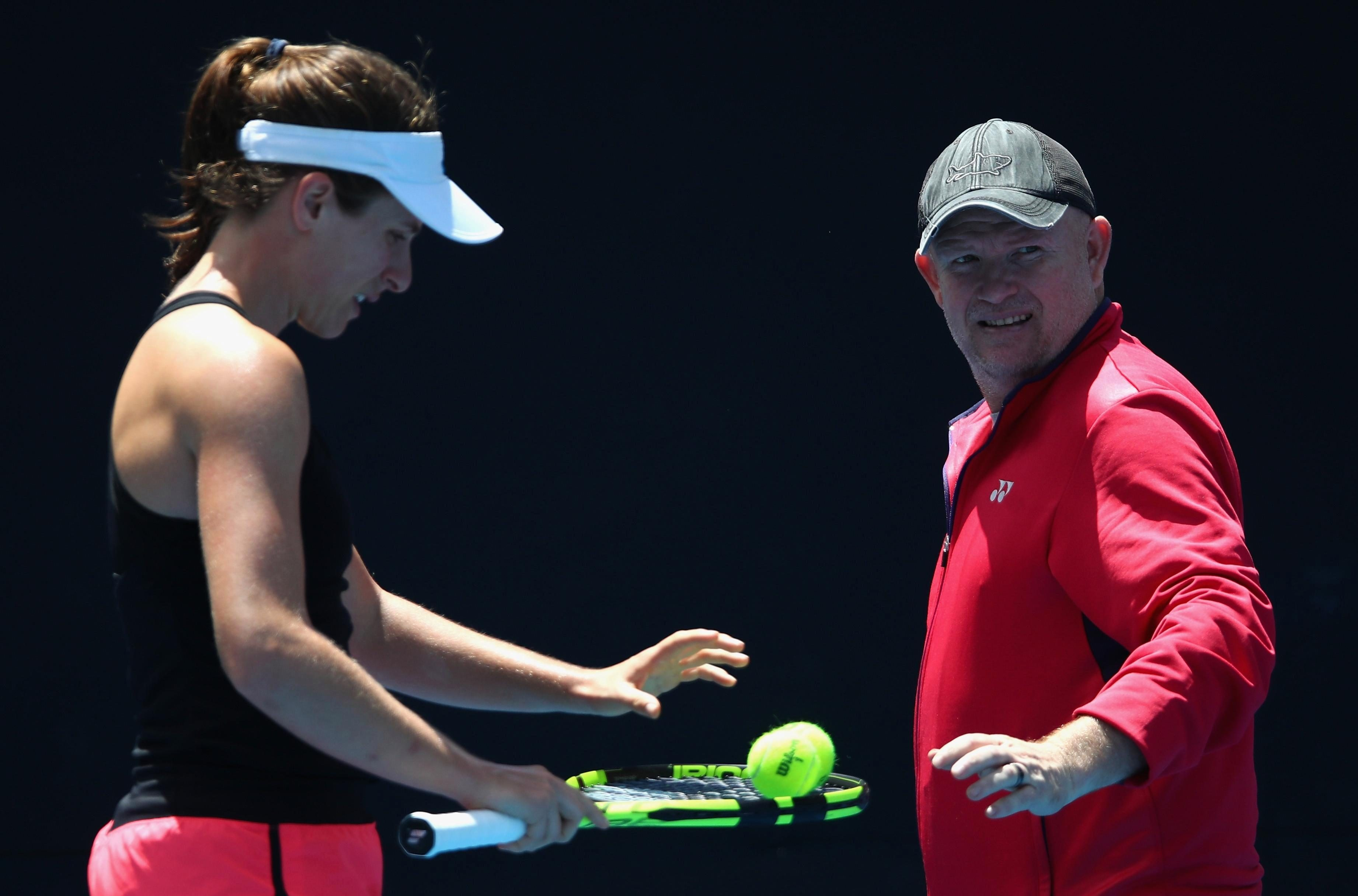 She split with coach Michael Joyce after her first-round exit at Flushing Meadows