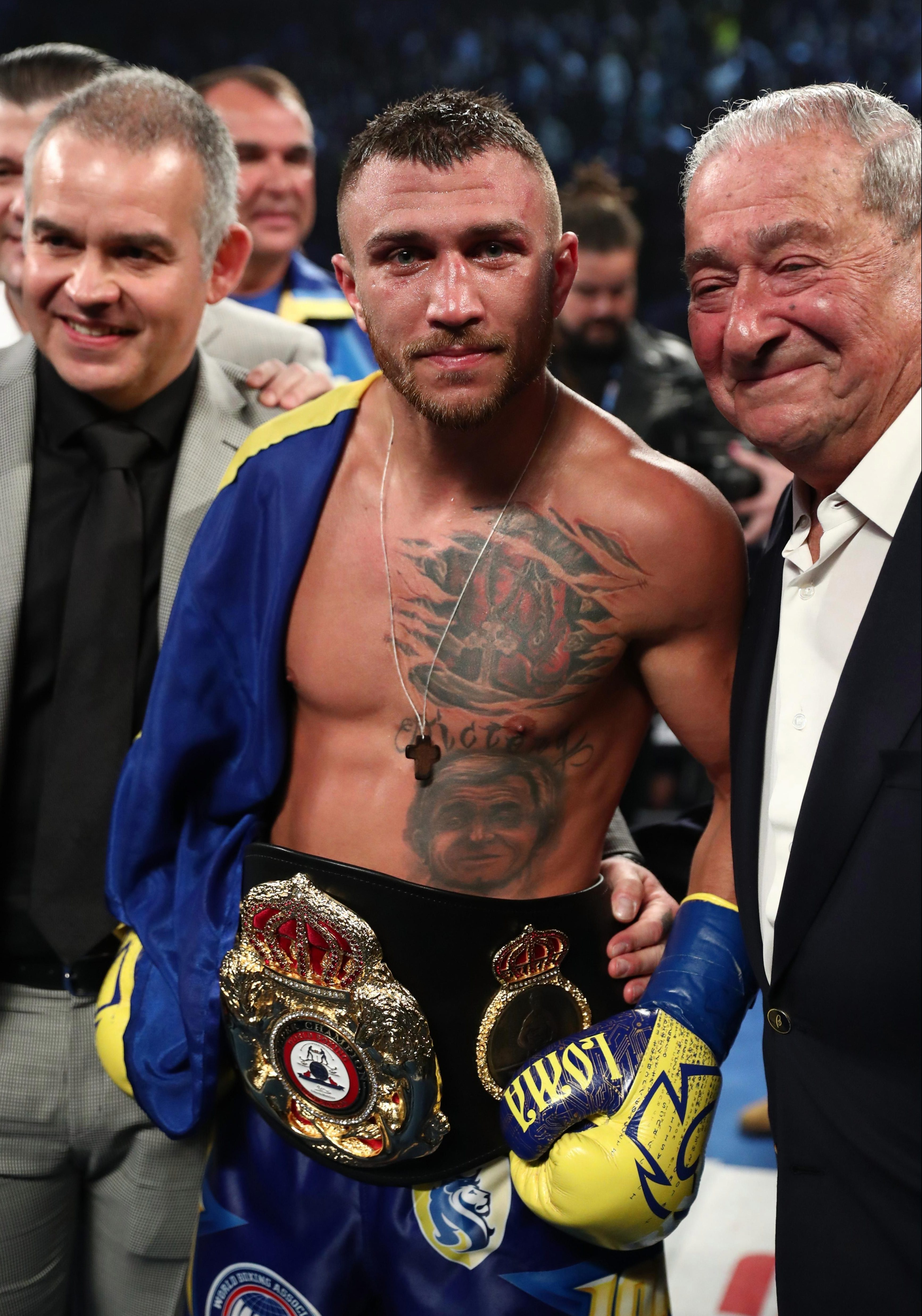 The Ukranian became a three-weight world champion