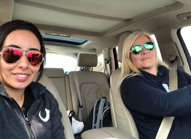 Sheikha Latifa (left) is pictured here escaping Dubai with her best friend Tiina Jauhianien
