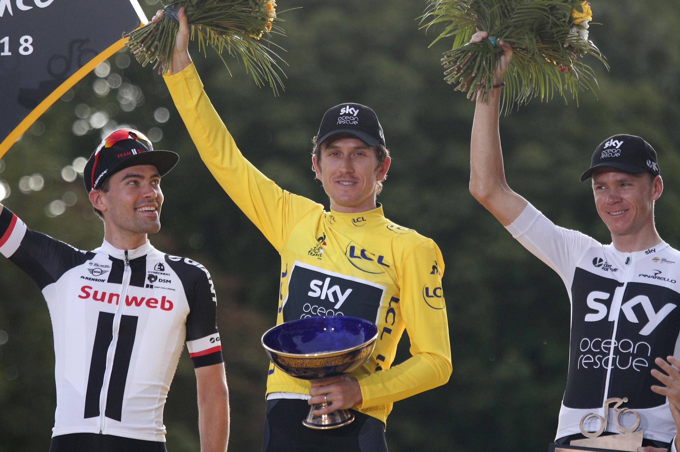 Geraint Thomas had the trophy he had won in Paris stolen at an event in Birmingham