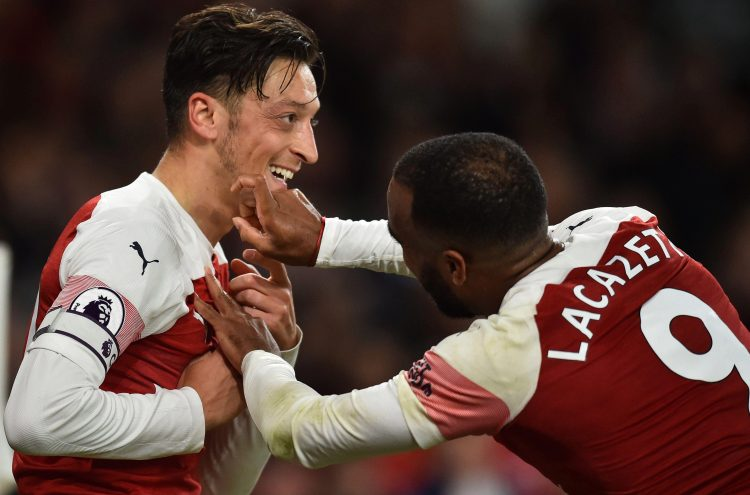 Mesut Ozil and Alexandre Lacazette have been caught up in an off-field controversy