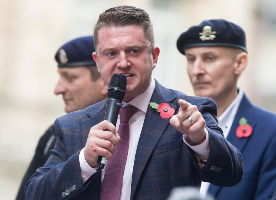 Tommy Robinson went to Huddersfield to speak to the alleged bully