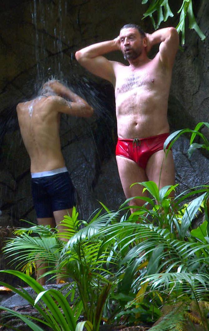 The I'm a celeb star admits that his reputation as a hunk may be dashed after his experience in the jungle shower