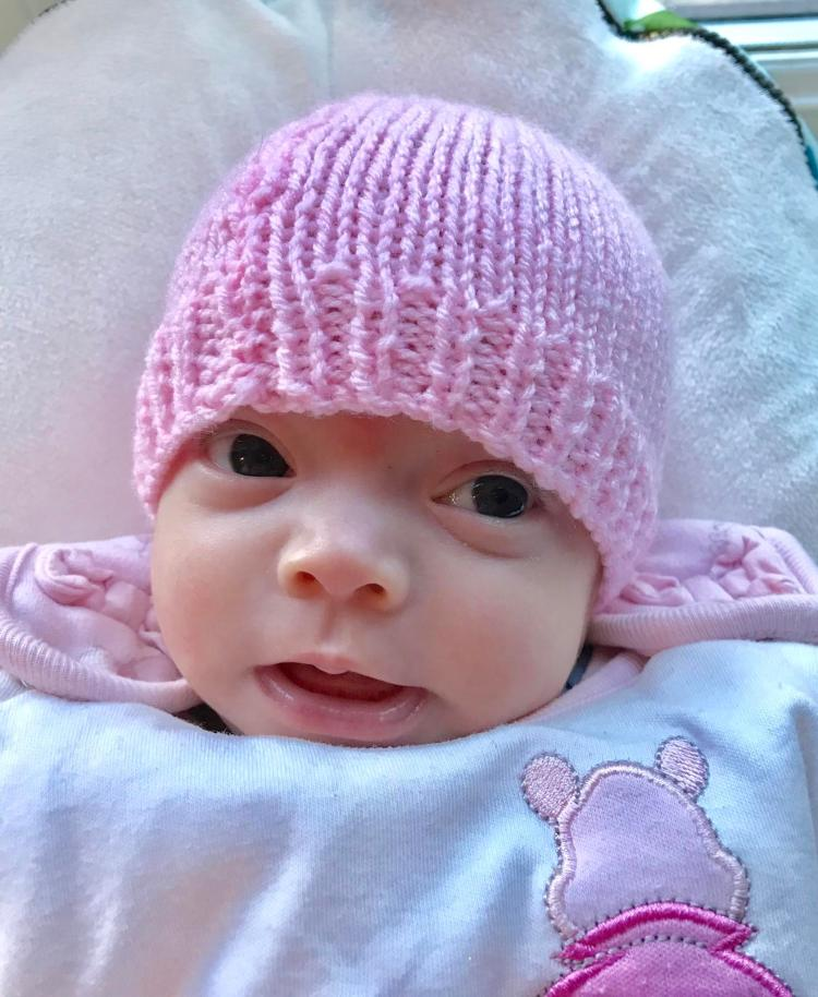 Little Bella was able to meet her sister before she was cremated