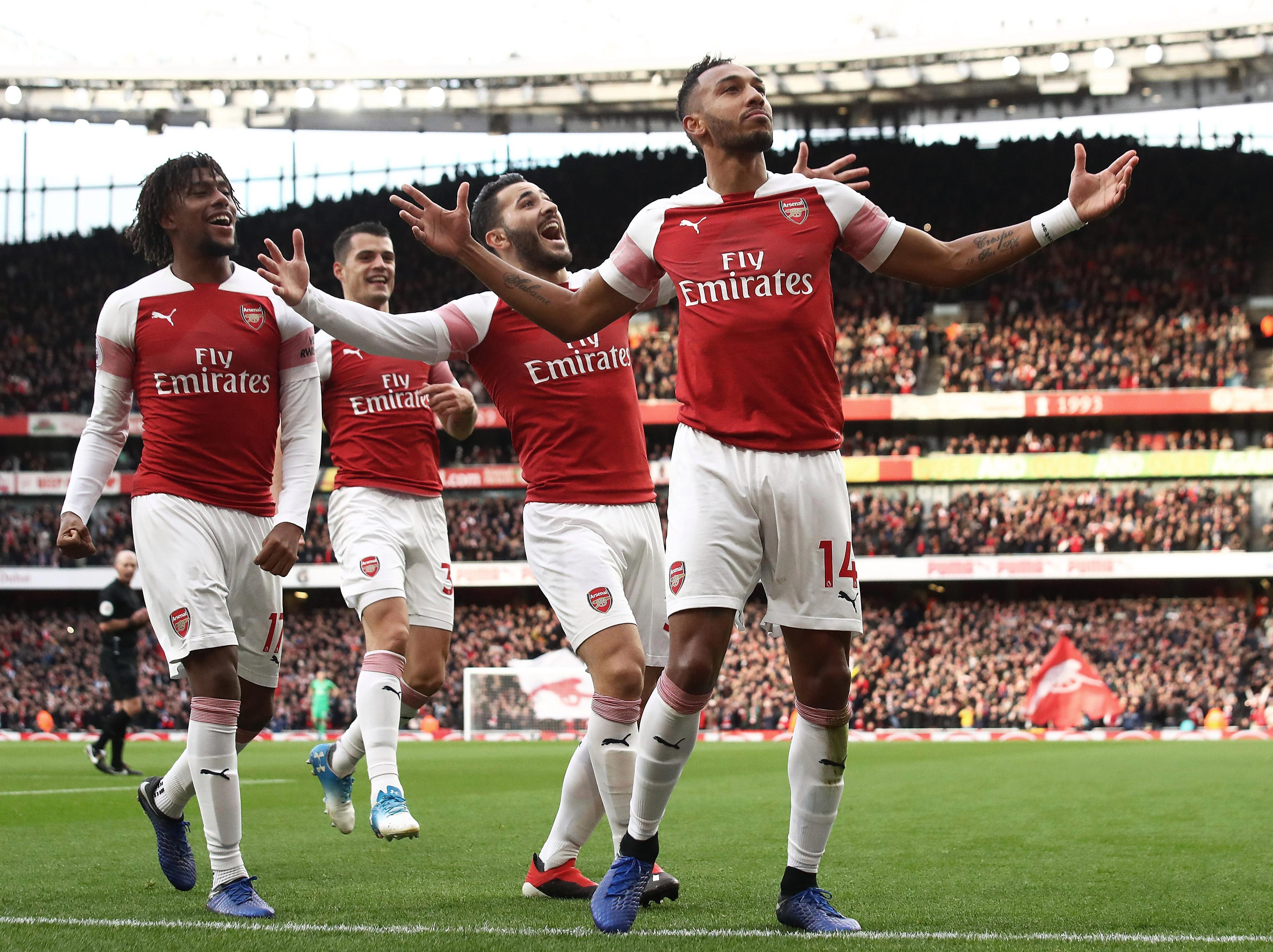 Pierre-Emerick Aubameyang notched two of the goals against Spurs