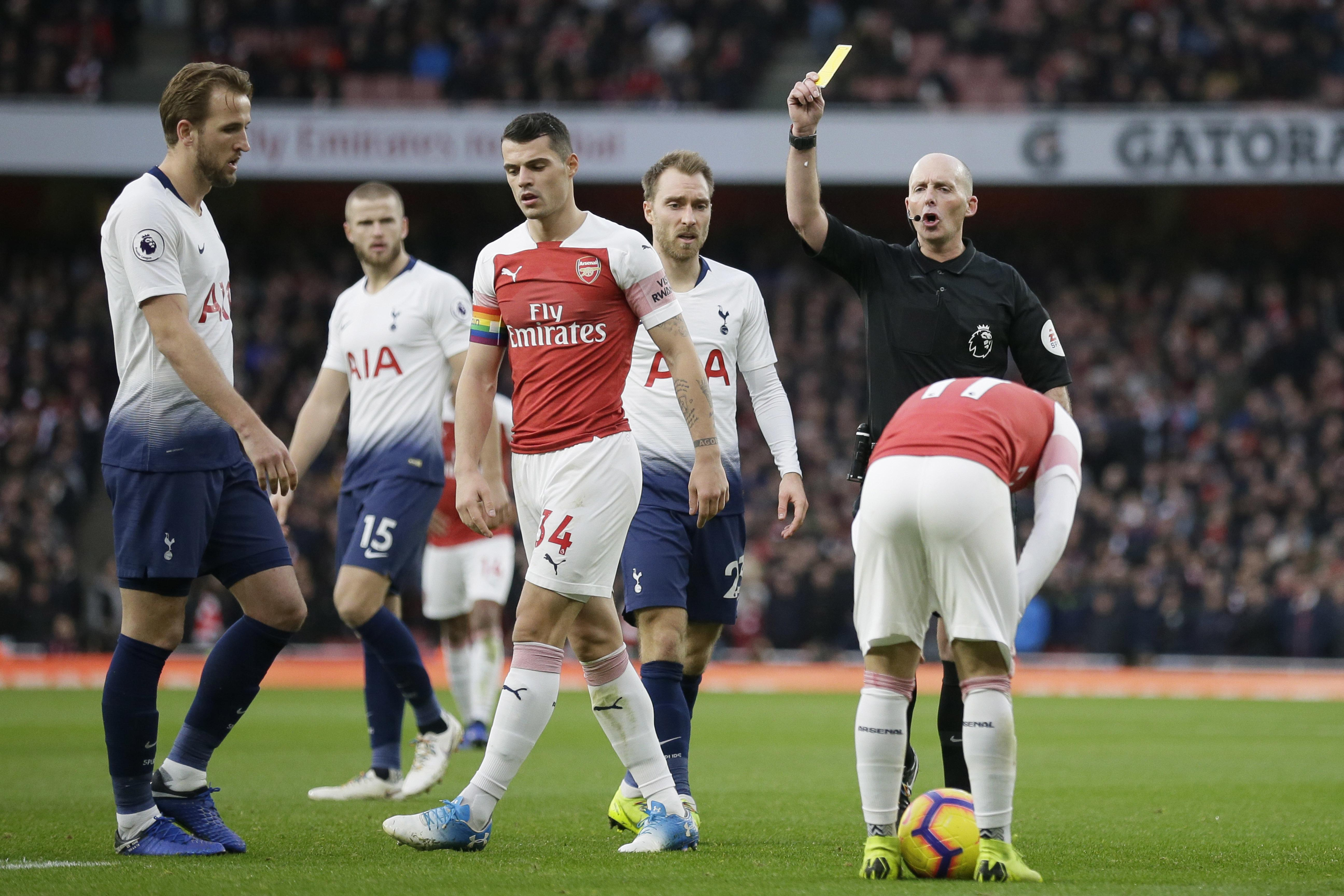 The Emirates saw a heated London derby