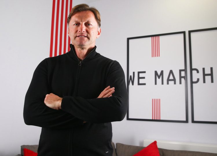 Ralph Hasenhuettl was appointed Southampton manager on Wednesday and replaced Mark Hughes