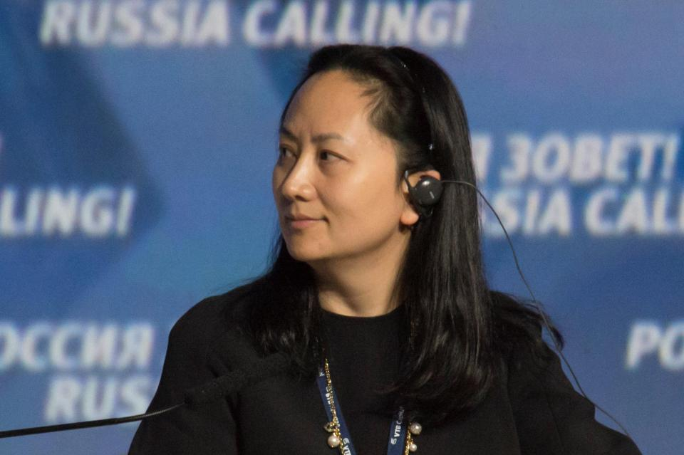 Meng Wanzhou was detained in Vancouver, British Columbia, on Saturday.