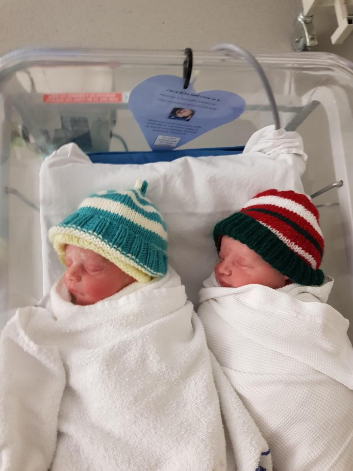 Sara wasn't allowed to leave the hospital until the twins had been delivered safely