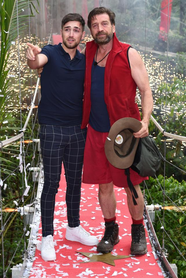 Nick's son Charles joined him on the bridge when he left the jungle on Thursday