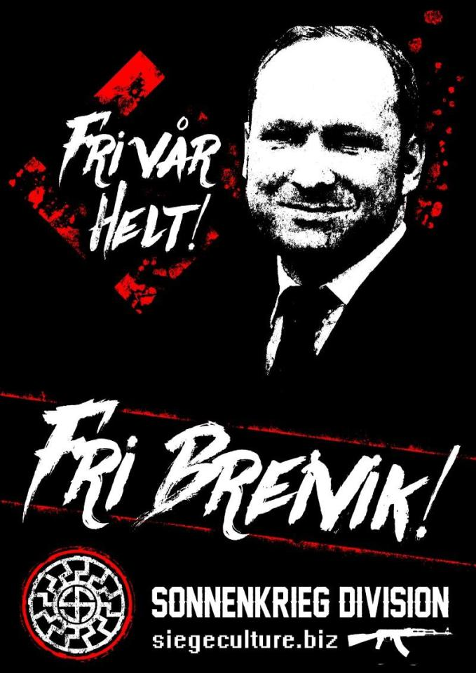 The group has also posted messages in Norwegian supporting far-right killer Anders Breivik