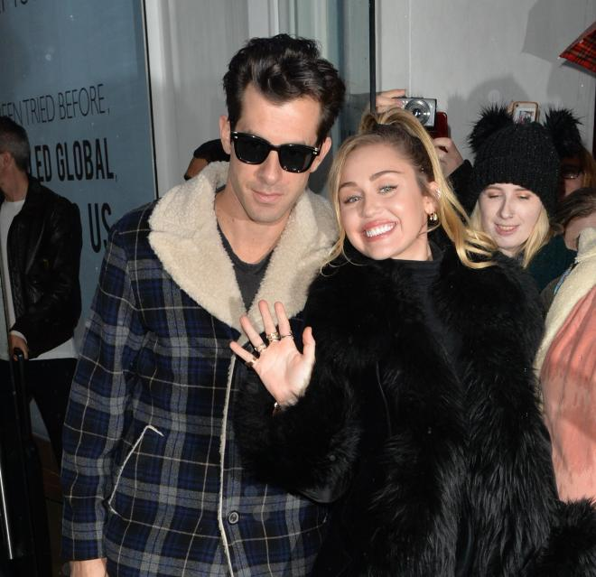 Mark Ronson with Miley Cyrus